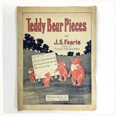 "Antique Sheet Music ""Teddy Bear Pieces"""