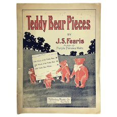 "Antique Sheet Music ""Teddy Bear Pieces"""