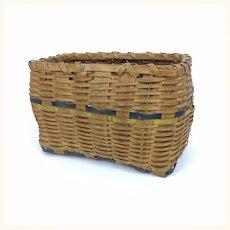 Antique miniature rectangular basket