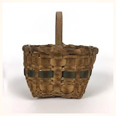 Antique miniature handled basket