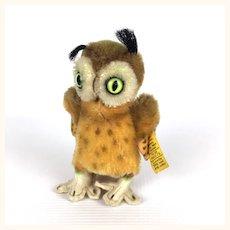 Steiff's smallest Wittie mohair owl