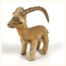 "Steiff ""Rocky"" Capricorn medium sized mohair goat"