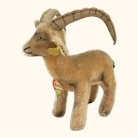 "Steiff ""Rocky"" Capricorn medium sized mohair goat"