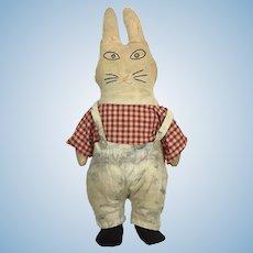 Vintage cloth folk art rabbit