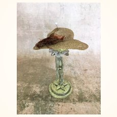 Old fine straw doll hat