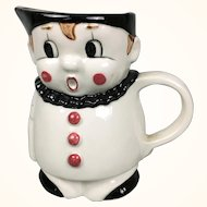 Vintage German clown Googly pitcher from the 1950's