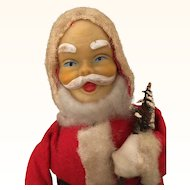 Vintage windup Christmas Santa