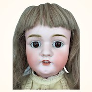 German bisque girl by Mystery Maker in fabulous condition