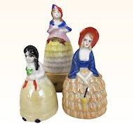 Vintage Collection of porcelain bell dolls