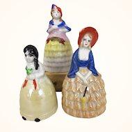 Collection of Vintage porcelain bell dolls