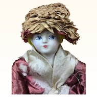 French rare cloth doll from the 1920's