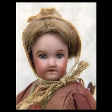 Antique French dollhouse miniature doll