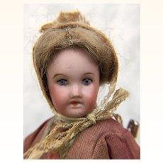 French dollhouse miniature doll