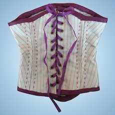 Artist made silk corset cover for French Doll