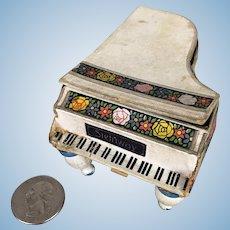 Vintage Schoenhut Upright Piano 16 Keys Lithograph Front