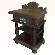 German dollhouse walnut side table