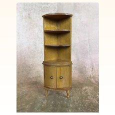 Vintage Schneegas miniature dollhouse corner bookcase