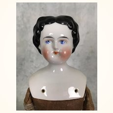 Antique flattop china doll for dressing