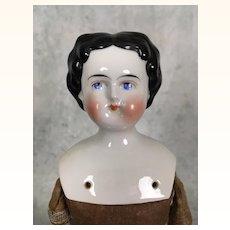 Antique flattop china doll