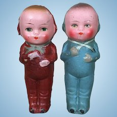Vintage German papier mache dolls circa 1930's