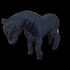 Old mohair stuffed animal horse