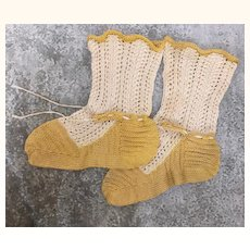 Beautiful hand knitted socks for large doll