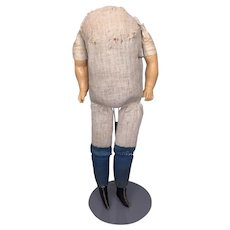 Antique large chubby body for papier mache doll