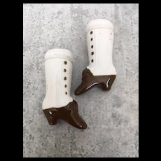Antique Hertwig china doll short chunky boots