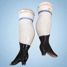 Antique porcelain legs for china doll