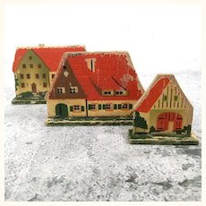 German wooden two sided lithographed toys