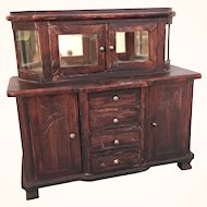 Antique dollhouse German sideboard with interior mirror