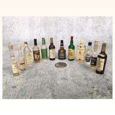 Vintage miniature dollhouse liquor bottles for a well-stocked salon