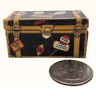 Vintage metal miniature dollhouse trunk by Marx