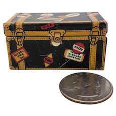 Vintage metal miniature dollhouse trunk by Marx
