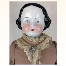 China Head doll by Kister, 26 inches in beautiful dress