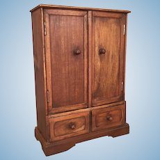 Early Vintage small stained wood cabinet