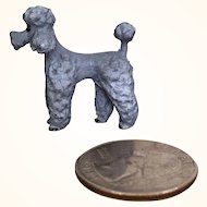 Very Miniature painted metal French Poodle