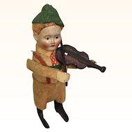 Vintage Schuco windup boy playing violin