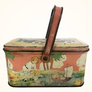 1920's TinDeco lunchbox or candy container