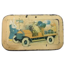1920's TinDeco child's lunchbox or candy container
