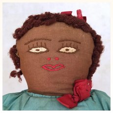 Vintage topsy turvy unusual cloth doll