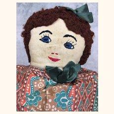 Vintage topsy turvy unusual folk art cloth doll
