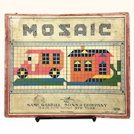 "Vintage Game ""Mosaic"" by Samuel Gabriel and Sons"