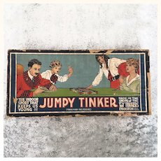 Antique Game, Jumpy Tinker with all pieces, ready to play