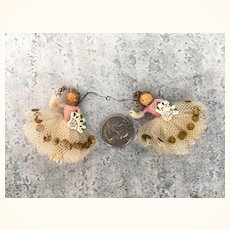 Vintage tiny folk art ornaments