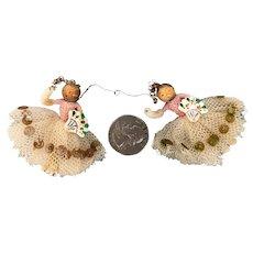 Vintage tiny folk art ornaments
