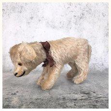 Vintage Schuco mohair dog