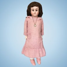 Antique turned head Alt Beck & Gottshalck girl bisque head doll