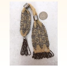 Antique miniature beaded miser's purse