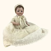 Antique all bisque baby with sleep eyes, mystery model